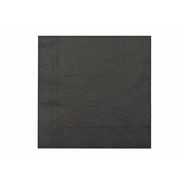 IH CASADECOR 20 Pack Luncheon 3 Ply Napkin (black) - Set of 6