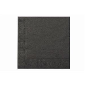 Paquet de 20 serviettes de table à 3 épaisseurs de IH CASADECOR (noir) - Ensemble de 6
