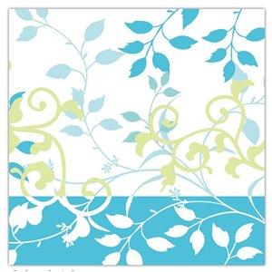 Paquet de 20 serviettes de table à 3 épaisseurs de IH CASADECOR (floral)  - Ensemble de 6