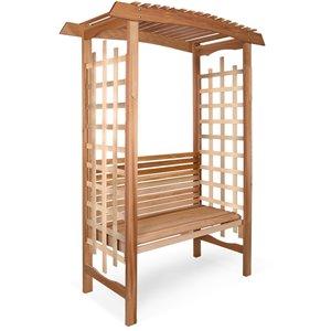 Tonnelle de jardin avec banc en bois non traité par All Things Cedar, 60 pi x 86 pi