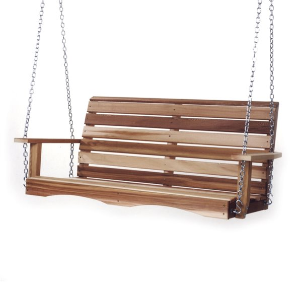 Ensemble de balançoires en bois non traité à 2 personnes par All Things Cedar