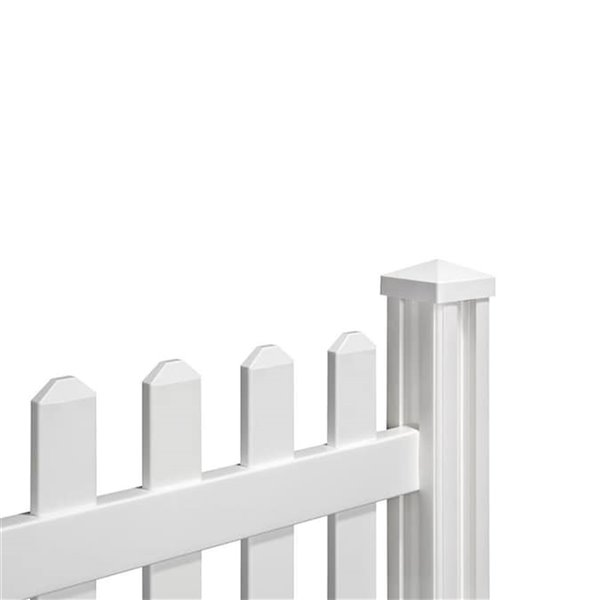 Panneaux de clôture Traditionnel en vinyle blanc de 4, pi h. x 7 pi L. par WamBam Fence