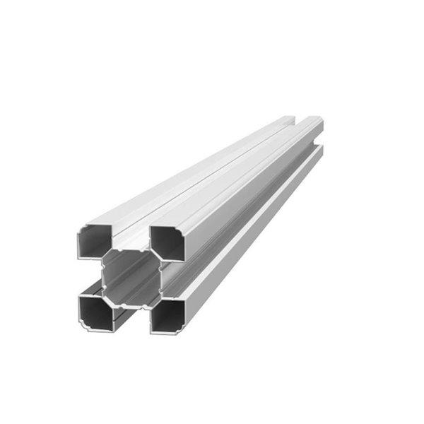 Poteau de clôture universel Traditionnel en vinyle blanc de 4-1/2 po x 4-1/2 po x 6 pi par WamBam Fence, paquet de 2