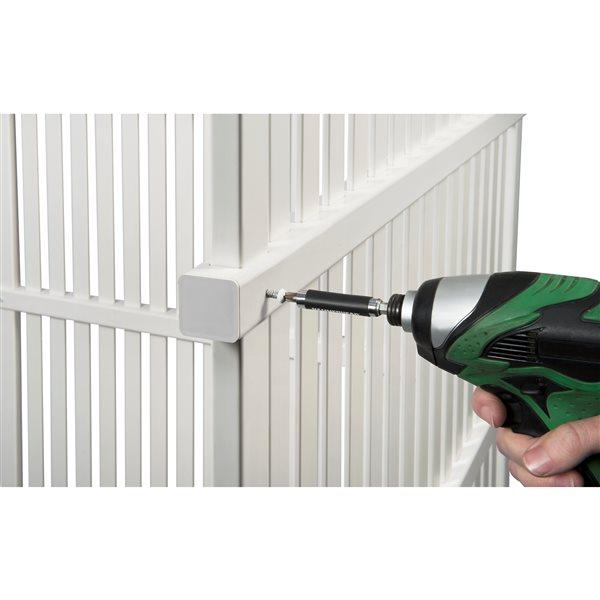 Écran d'intimité extérieur Huntersville en vinyle blanc de 3 po l. x 4 po h. par Zippity Outdoor Products, paquet de 2