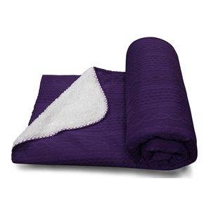 Jeté Piceno par Honolulu Home Fashions en polyester violet