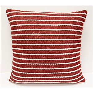 Honolulu Home Fashions Butler 18-in W X 18-in L Square Indoor Decorative Pillow - Red