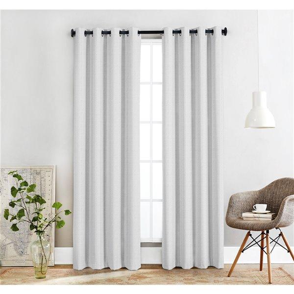 Paire de panneaux de rideau de Honolulu Home Fashions Offaly filtrant la lumière en polyester, blancs, L 84 po X l 54 po