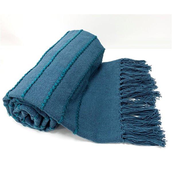 Jeté Longford par Honolulu Home Fashions bleu