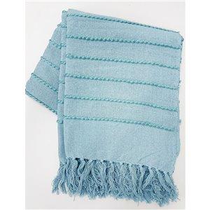 Jeté Longford par Honolulu Home Fashions bleu glacé