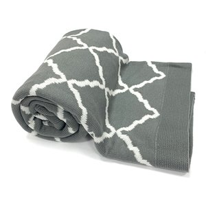 Honolulu Home Fashions Ardee Grey Acrylic Throw