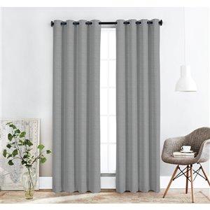 Paire de panneaux de rideaux occultants Ballina par Honolulu Home Fashions en polyester, gris, 84 po L X 54 po l