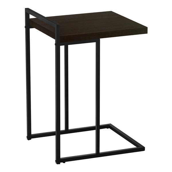 Table d'appoint rectangulaire en composite brun espresso par Monarch Specialties