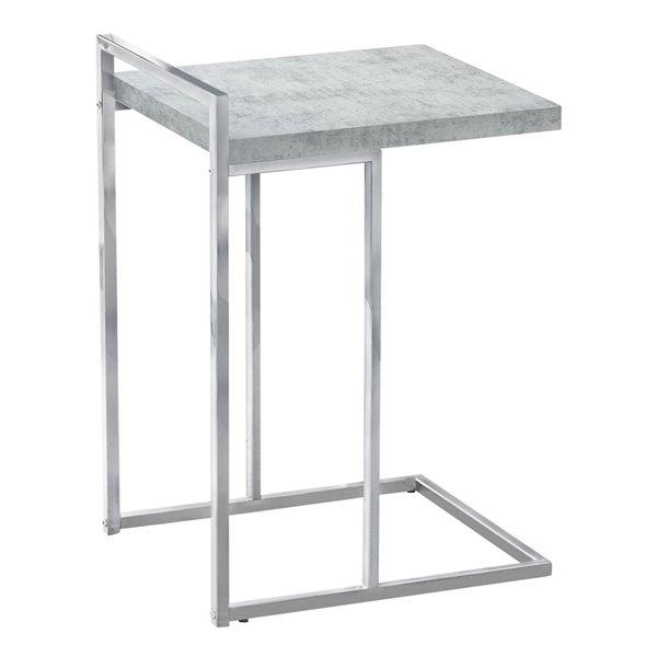 Table d'appoint rectangulaire en composite gris clair par Monarch Specialties