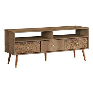 Monarch Specialties Walnut Wood-look TV Stand