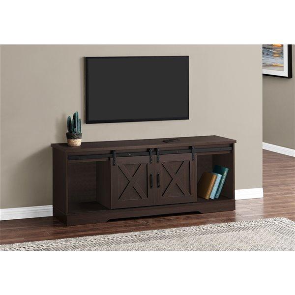 Monarch Specialties Espresso TV Stand