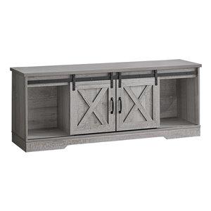 Monarch Specialties Grey Wood-look TV Stand