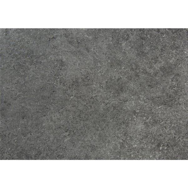Bureau d'ordinateur moderne/contemporain en fausse pierre grise Monarch Specialties, 47,25 po