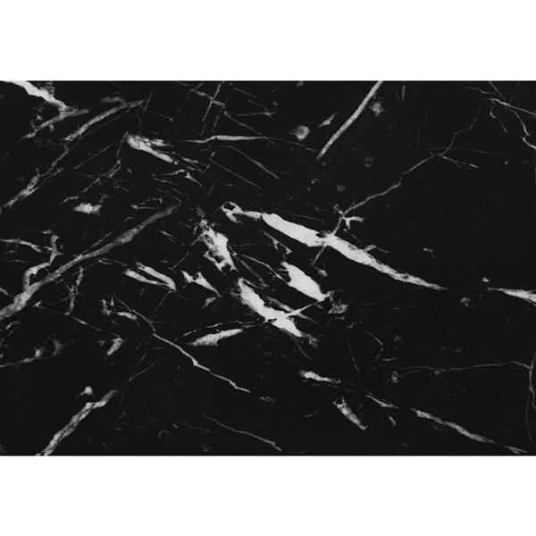 Bureau d'ordinateur moderne/contemporain en faux marbre noir par Monarch Specialties de 47,25 po
