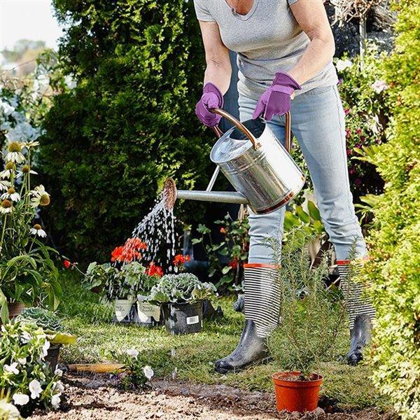 Gants de jardin en poly/coton violet pour femmes Handwear par Dig It, très grande taille