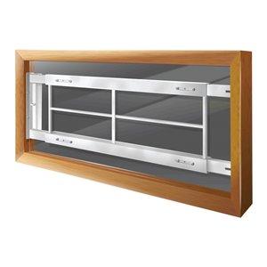 Mr. Goodbar Series C 52-in x 12-in Adjustable White Swing-Away Window Security Bar