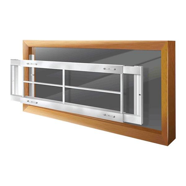 Barre de sécurité blanche pour fenêtre Série C de 62 po x 12 po ajustable et amovible par Mr. Goodbar