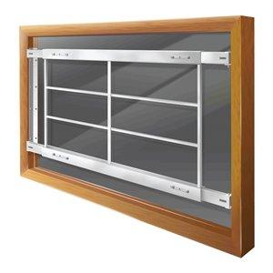 Barre de sécurité blanche pour fenêtre Série D de 52 po x 21 po ajustable et fixe par Mr. Goodbar