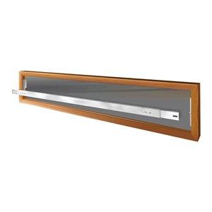 Barre de sécurité blanche pour fenêtre Série A de 42 po x 6 po ajustable et amovible par Mr. Goodbar