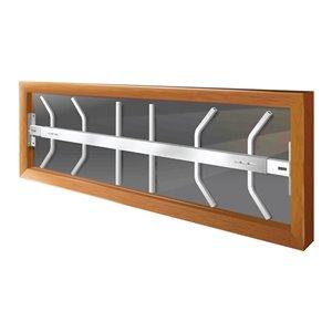 Barre de sécurité blanche pour fenêtre Série B de 42 po x 12 po ajustable et fixe par Mr. Goodbar