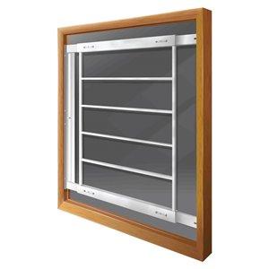 Barre de sécurité blanche pour fenêtre Série E de 29 po x 31 po ajustable et pivotante par Mr. Goodbar