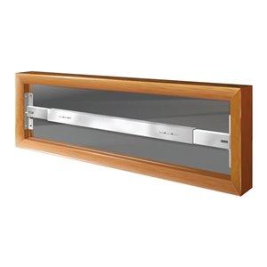 Barre de sécurité blanche pour fenêtre Série A de 21 po x 6 po ajustable et pivotante par Mr. Goodbar