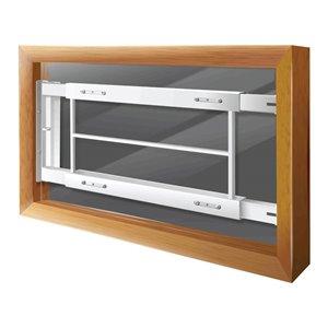 Mr. Goodbar Series C 29-in x 12-in Adjustable White Swing-Away Window Security Bar