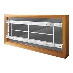 Barre de sécurité blanche pour fenêtre Série C de 62 po x 12 po ajustable et fixe par Mr. Goodbar