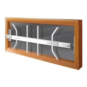 Barre de sécurité blanche pour fenêtre Série B de 29 po x 12 po ajustable et amovible par Mr. Goodbar