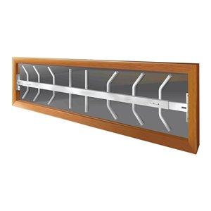 Barre de sécurité blanche pour fenêtre Série B de 52 po x 12 po ajustable et pivotante par Mr. Goodbar