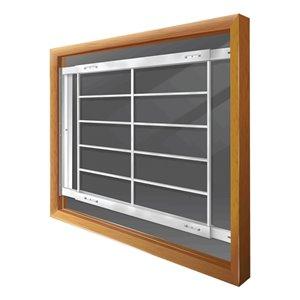 Barre de sécurité blanche pour fenêtre Série E de 52 po x 31 po ajustable et pivotante par Mr. Goodbar