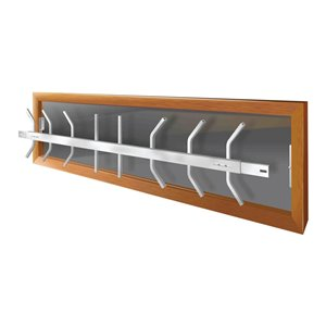 Mr. Goodbar Series B 52-in x 12-in Adjustable White Removable Window Security Bar