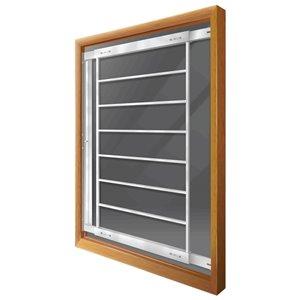 Barre de sécurité blanche pour fenêtre Série F de 29 po x 41 po ajustable et pivotante par Mr. Goodbar