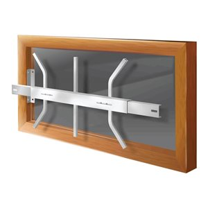 Mr. Goodbar Series B 21-in x 12-in Adjustable White Removable Window Security Bar