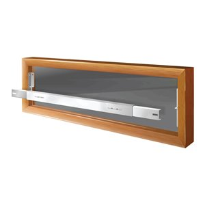 Mr. Goodbar Series A 29-in x 6-in Adjustable White Removable Window Security Bar