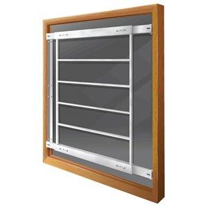 Barre de sécurité blanche pour fenêtre Série E de 29 po x 31 po ajustable et fixe par Mr. Goodbar