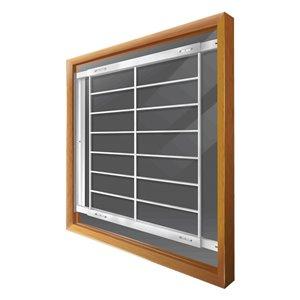 Barre de sécurité blanche pour fenêtre Série F de 52 po x 41 po ajustable et pivotante par Mr. Goodbar
