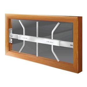 Barre de sécurité blanche pour fenêtre Série B de 21 po x 12 po ajustable et pivotante par Mr. Goodbar