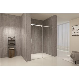 TRUSTMADE Clear 2-piece 76-in x 48-in x 76-in Alcove Shower Kit