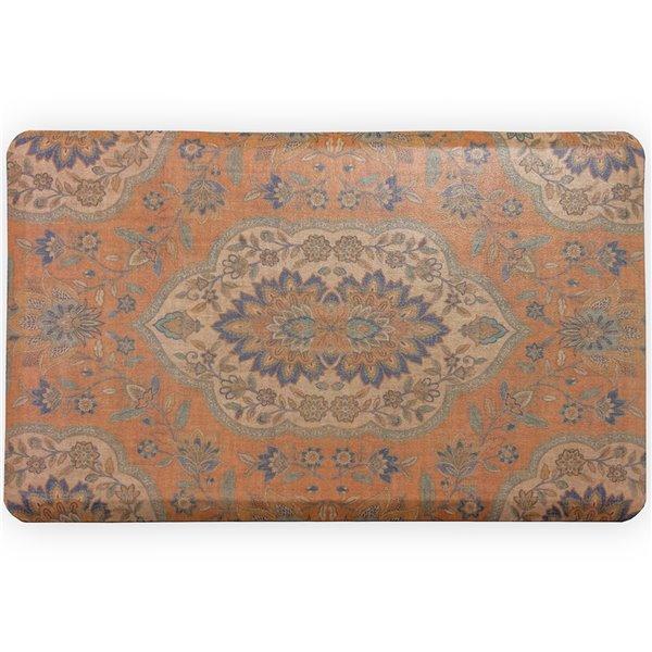 Tapis anti-fatigue d'intérieur rectangulaire Persépolis par FloorPops, orange
