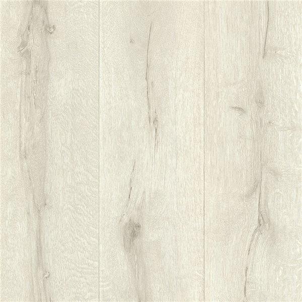 Papier peint sans colle non-tissé à motif de bois Deluxe par Advantage, 56,4 pi², blanc cassé