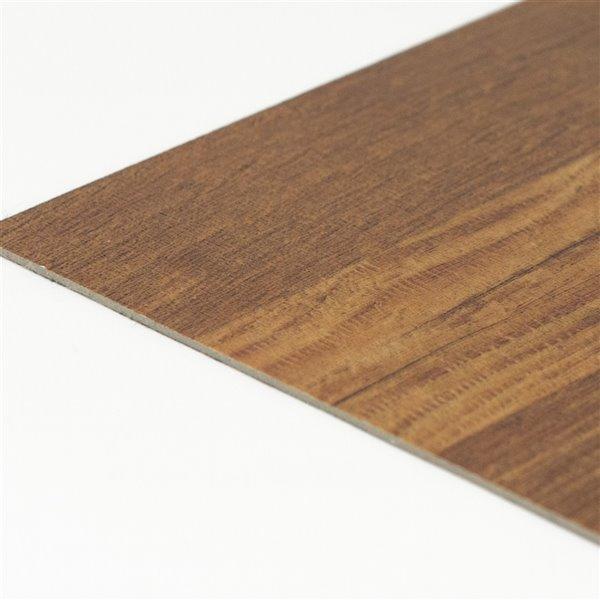 Carrelage en vinyle autocollant Parquet par FloorPops, 12 po x 12 po, brun, 10 pièces