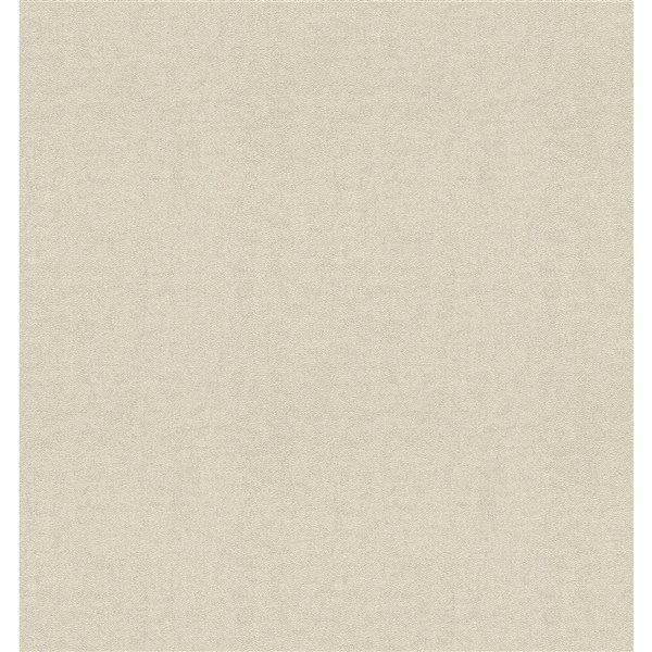 Papier peint sans colle en vinyle avec motif abstrait Deluxe par Advantage, 56,4 pi², crème