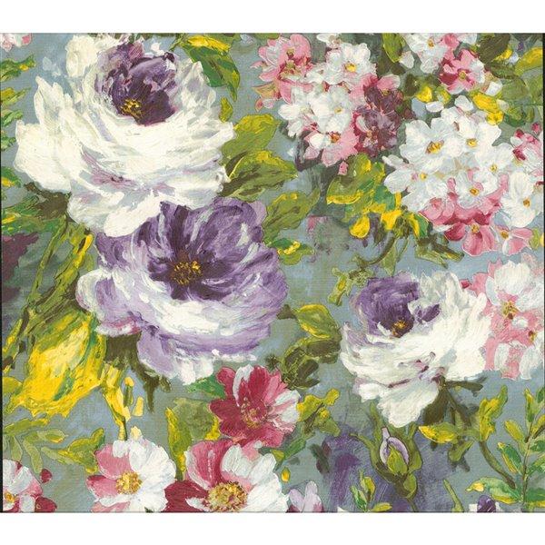 Papier peint sans colle en vinyle avec motif floral Deluxe par Advantage, 57,8 pi², multicolore