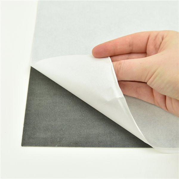 Carrelage en vinyle autocollant Isosceles par FloorPops, 12 po x 12 po, blanc cassé, 10 pièces