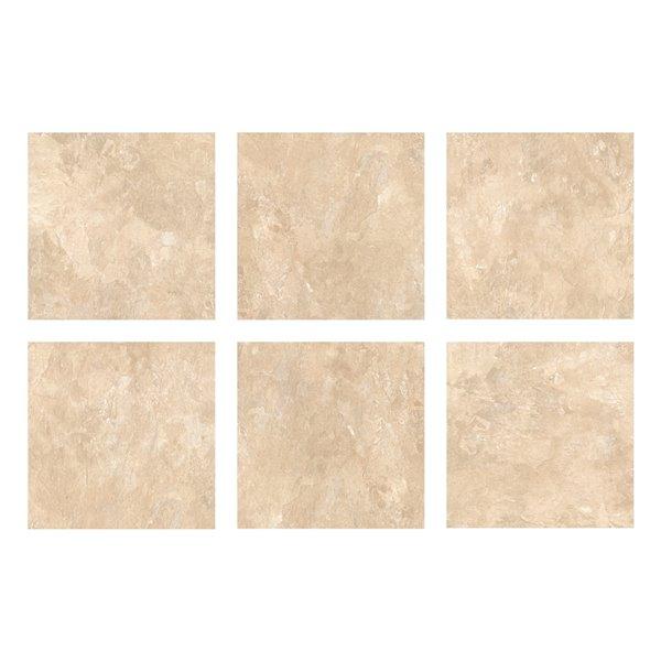 Carrelage en vinyle autocollant Canyon par FloorPops, 12 po x 12 po, brun, 10 pièces